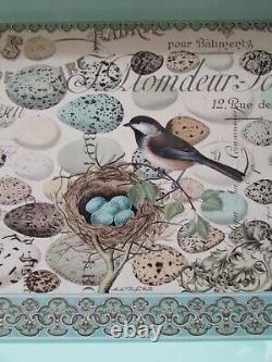 MICHEL Design Works Spring/Easter Nest & Eggs Decoupage Large Serving Tray