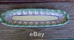 MacKenzie Childs Go Fish Large Wood Handle Serving Drink Tray Long Retired