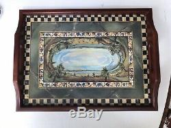 Mackenzie Childs Cloud Watching Wood Serving Tray 12 x 16 EXCELLENT CONDITION