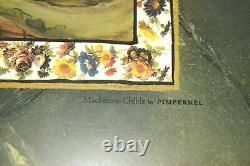 Mckenzie Child Cloud Watching Wood Handle Tray & 4 Matching Placemats Rare