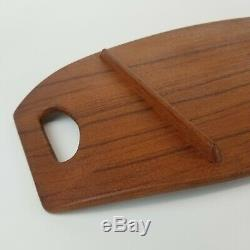 Mid Century Dansk Surfboard Tray 802 Teak Wood Denmark 23in Vintage Handles