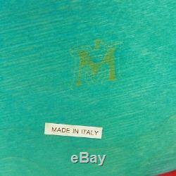 Mid Century Manzoni Pietro Vietri Multi Color Wood Serving Tray Made In Italy