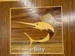 Mid Century SwordFish Wood Serving Tray