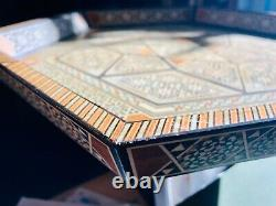 Middle Eastern tea/serving tray-Inlay with mother of pearl-handmade
