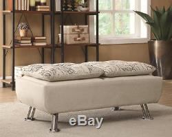 Modern Beige Upholstered Storage Ottoman with Serving Trays by Coaster 300423