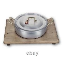 Mopita 3-qt Ambiente Risottiera Casserole Pan & Wood Serving Tray Made In Italy