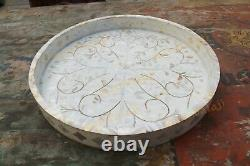 Mother Of Pearl Inlay tray, serving tray, table tray, waterproof tray