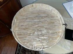 Mother Of Pearl Tray Decorative Serving Round Tray NEW