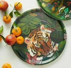 NEW Anthropologie Nathalie Lete Tiger Jungle Platter Serving Tray Animalia Large
