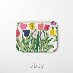NWT Svenskt Tenn Sweden Josef Frank Wood Plywood Tray Tulips Flowers Round 12