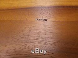 Nambe Tray Bella Wood Metal Handles