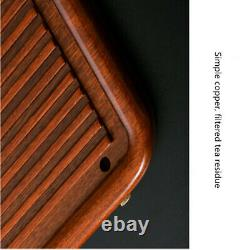 Natural Rosewood Solid Wood Gongfu Tea Tray Chinese Serving Table For 1-2 People