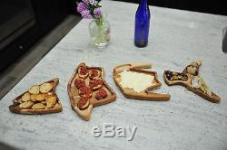Nautical Teak Serving Tray TUNA Koah Wood Products