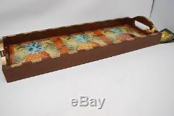 New ANNIE MODICA PineApple Island Life Wood Decoupage Rectangular Serving Tray