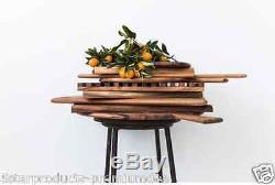New Ironwood Gourmet Ornamental Serving Tray Acacia Wood Kitchen Serve Breakfast