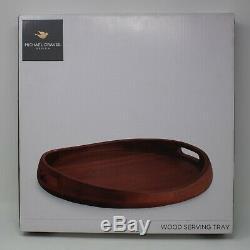 New Michael Graves Design Wood Serving Tray Acadia Wood 15 Diameter