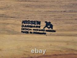 New! NISSEN Danmark WARMING TRAY Denmark Wood + Cast Iron Chafing Buffet Server