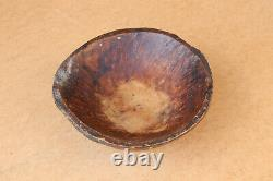 Old Antique Primitive Wooden Wood Bowl Plate Dish Cup Serving Tray Salver 19th
