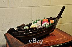 Old Modern Handicrafts Dhow Boat Sushi Tray