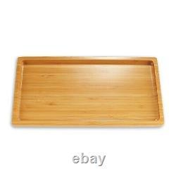 Organic Bamboo Wood Tea Serving Tray Various Sizes