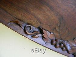 Original Hand Carved French Art Nouveau Signed Cedar Wood Tray