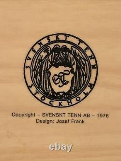 Pair of Vintage 1976 Svenskt Tenn AB Stockholm Coated Wood Trays, 14x 11