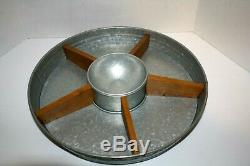 Personalized Better Homes & Gardens Galvanized Steel & Wood Turntable