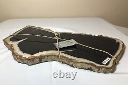 Petrified Wood 13x7 Cheese Charcuterie Presentation Board Serving Tray Platter