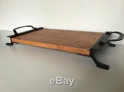 Pottery Barn Vintage Blacksmith Cheese Board Cutting Board Rustic Board New
