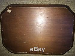 RARE Antique English Colonial Wood Dinner Beer Serving Tray 1/1 Only 1 Ive Seen