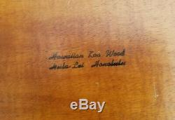 RARE VTG Hawaiian KOA Wood TIKI/LUAU Pu-Pu PLATTER/HUGE 29 Divided Serving TRAY