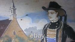 Rare Antique C. 1890's hand painted Ecole de Pont-Aven serving tray French Breton