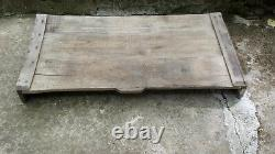 Rare Antique Primitive Old Art Wooden Serving Table / Serving Tray Hand Carved