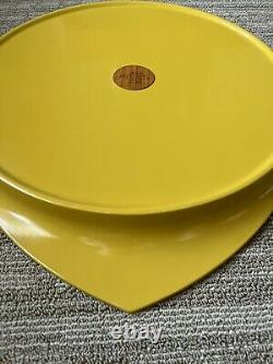Rare Dansk IHQ Yellow Lacquered Teak Wood Serving Tray
