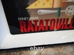 Rare Disney Ratatouille Bon Appetit! 3 Ceramic Dishes and Wood Serving Tray