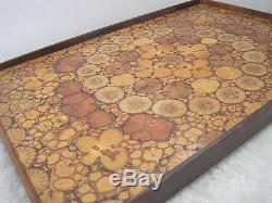 Rare Vintage Genuine Mid Century Unique Hand Crafted Wood Serving Tray