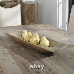 Reclaimed Wood Reproduction Dough Tray Decorative XXL 30 Bowl Uttermost 18950