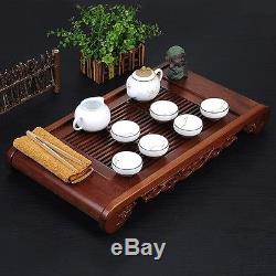 Rosewood tea tray solid wood table for tea party plastic drawers L57cm tea board