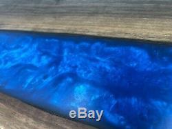 Rustic Meets modern River Epoxy Cutting Board Charcuterie Serving Tray Walnut