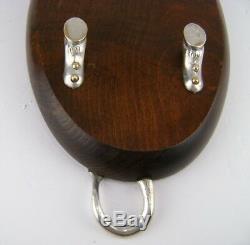 Sarreid Ltd Wood Serving Board Tray Platter Silver Plated Bull Almazan Spain 18