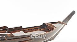 Serving Dish Sushi Tray Red Sea Dhow Boat 27 Wooden Nautical Ship Decor New
