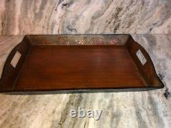 Serving Tray Better Homes & Garden Rustic Wood Tray 13 X 20 X 2.5RARE VINTAGE