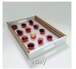 Serving Tray Inches Natural Wood Tone White desert tray candy Plate large size