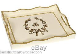Serving Trays Napoleonic Bee Wooden Serving Tray Ivory Hand Painted Tray