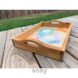 Serving tray, resin serving tray, functional decor, resin tray, wood tray, tray