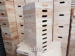 Set 10 Plain Wood Wooden Serving Trays 50cmx30cmx 6.3cm For Decoupage