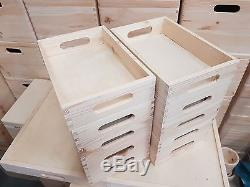 Set 10 Small Wooden Serving Tray 30cmx20cmx6.3cm Decoupage