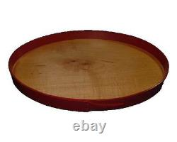 Shaker Serving Tray #08 in New Lebanon Style with Red Pepper Band, Lacquer Finis