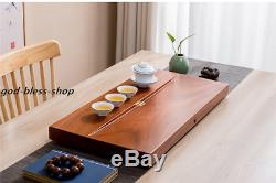 Solid wood tea tray rosewood whole wood tea table water draining tea boat large