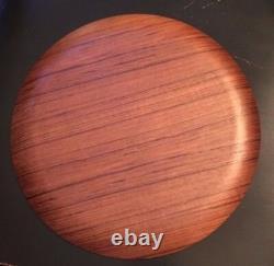 Spectacular Vintage 1964 Tokyo Olympics Souvenir Wood Serving Tray Plate